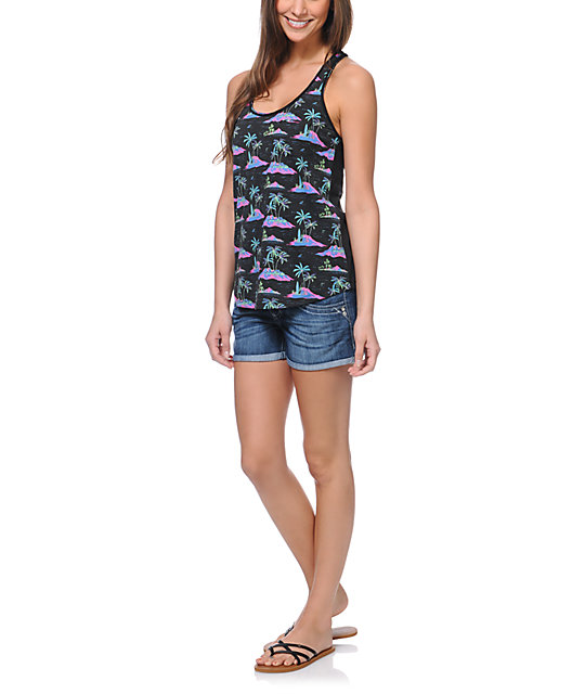 Empyre Casey All Aloha Tropical Print Tank Top