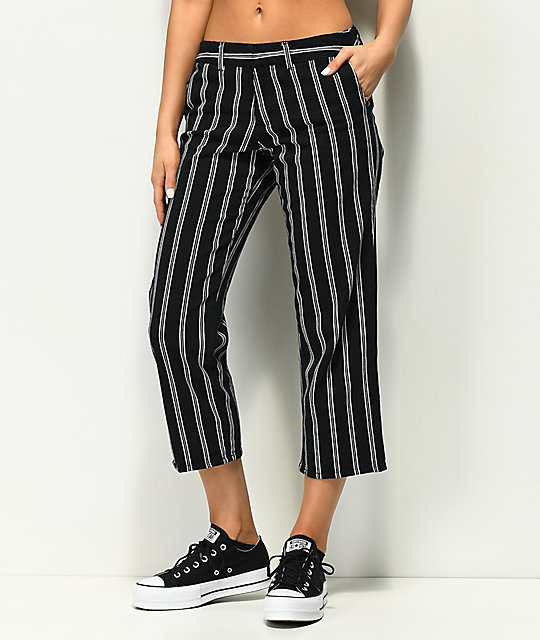 Empyre Cassia Black Stripe Crop Pants