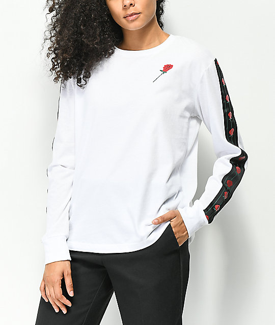 Empyre Cassie Rose Tape White Long Sleeve T-Shirt