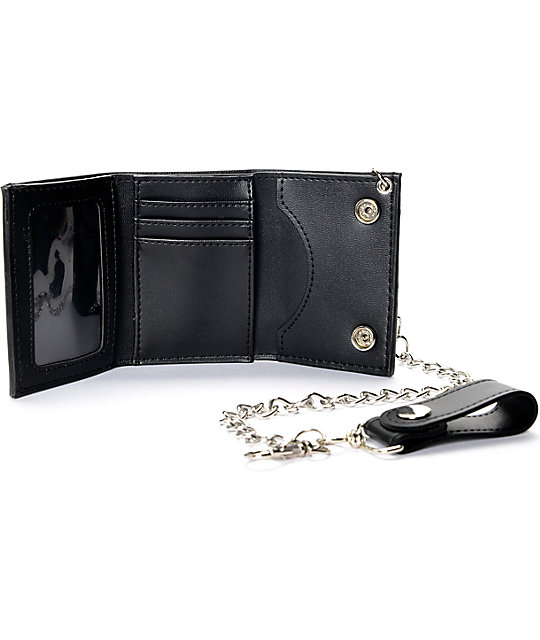 Empyre Chain Black Wallet