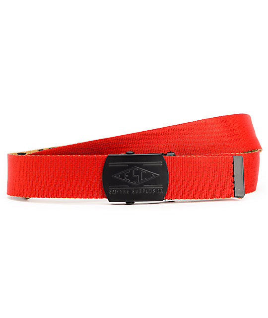 Empyre Changeable Red & Cheetah Print Reversible Web Belt