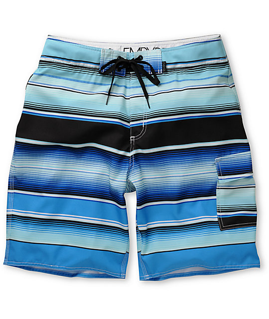 Empyre Chonger Blue 4-Way Stretch Board Shorts