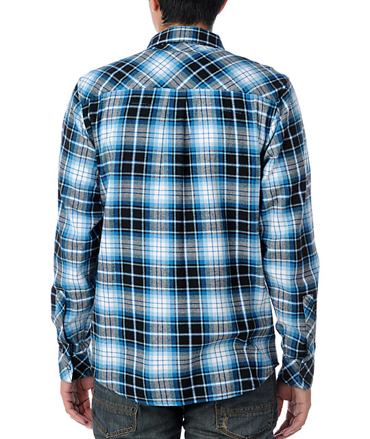 Empyre Conquest White & Blue Flannel Shirt
