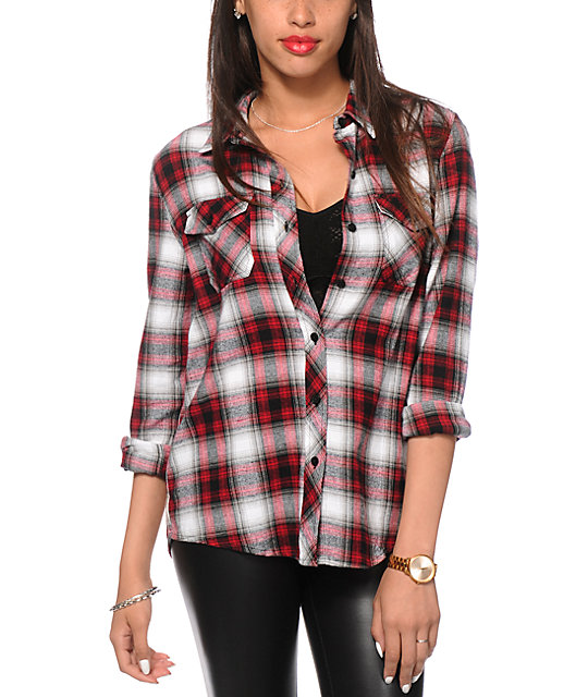 68d2724c4 Empyre Cortland Red Flannel Shirt