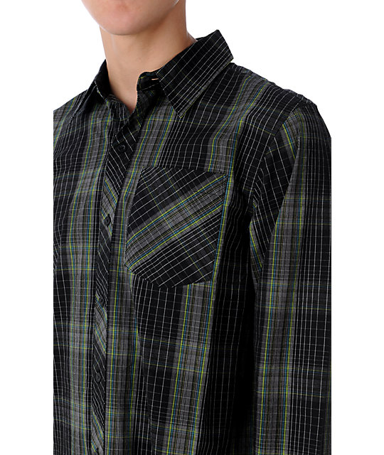 Empyre Crawler Black & Grey Woven Shirt