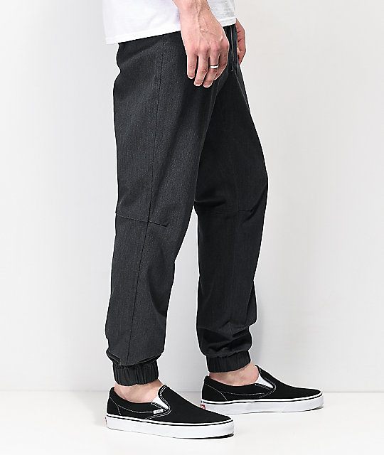 Empyre Creager Elastic Waist Heather Grey Jogger Pants