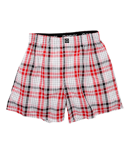 Empyre Cross Line Red & Black Boxer