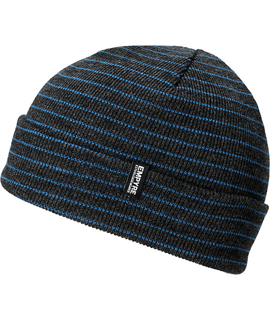 Empyre Curie Heather Black & Blue Beanie