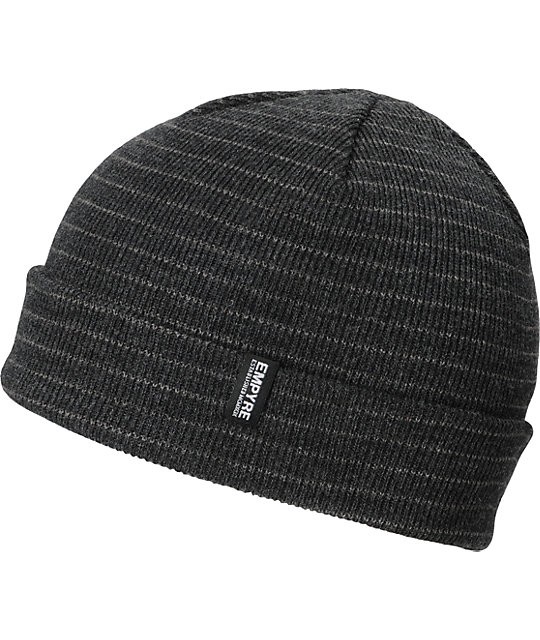 Empyre Curie Heather Black & Grey Beanie