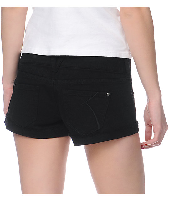 Empyre Dani Black Denim Shorts