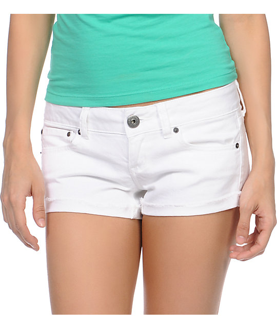 Empyre Dani White Denim Shorts