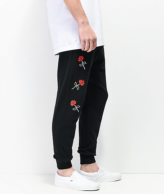 Empyre Defend The Rose Black Jogger Sweatpants