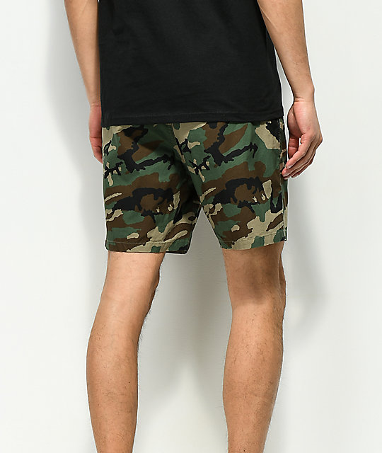 ba757a6386b8f Empyre Dixon Camo Elastic Waist Shorts | Zumiez.ca