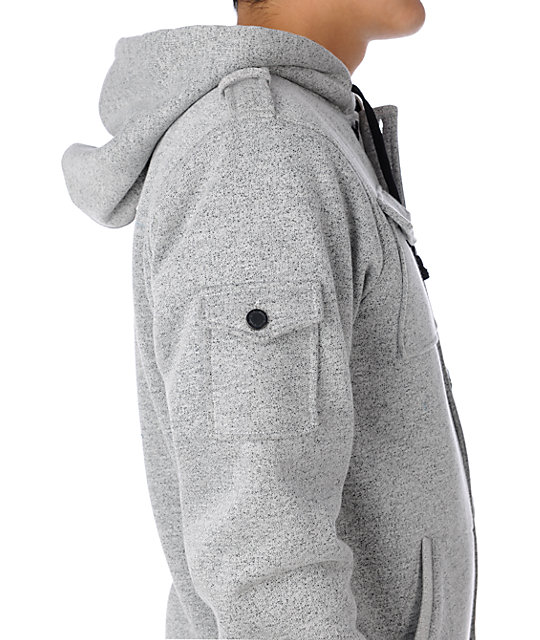 Empyre Dormant Heather Grey Speck Hoodie Jacket