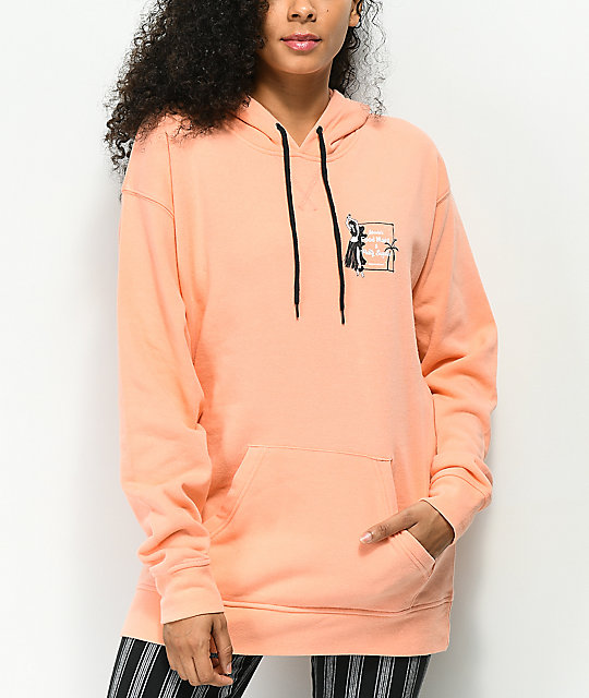 Empyre Dottie Hula Girl Coral Hoodie