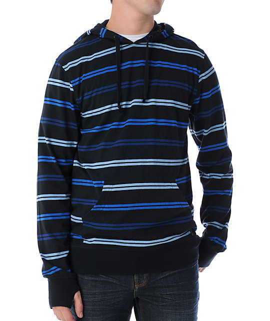 Empyre Double Up Black & Blue Knit Hoodie