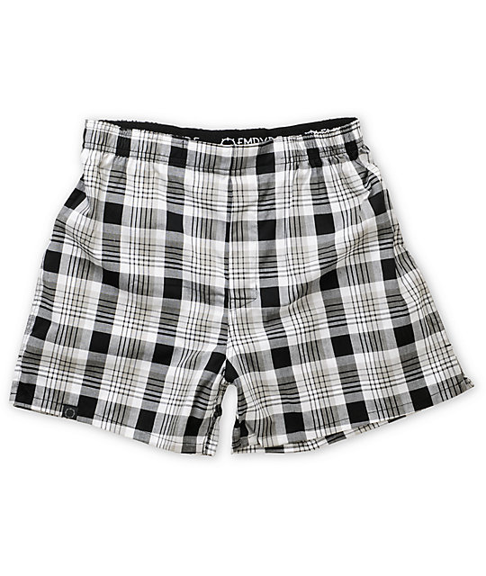 Empyre Dougie Black Plaid Boxers