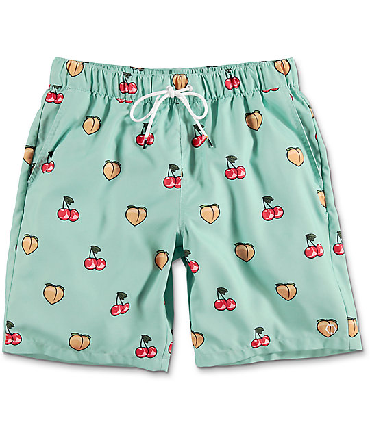 Empyre Dubtub Fruit Elastic Waist Mint Board Shorts