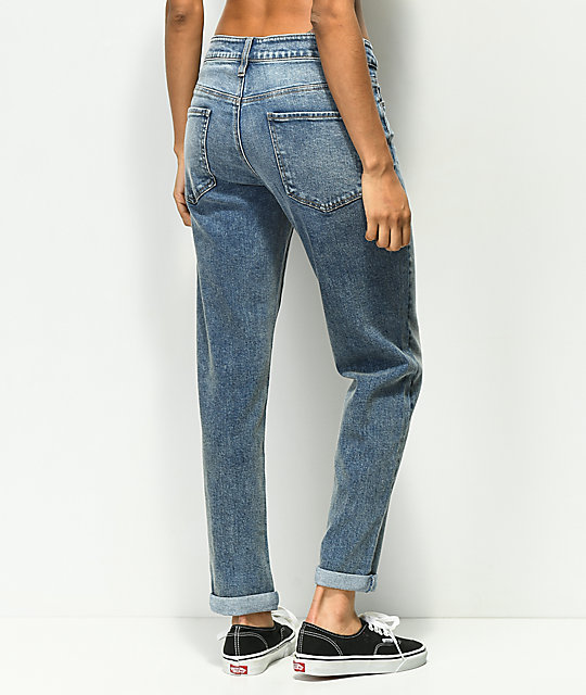 Empyre Easton Medium Wash Boyfriend Jeans