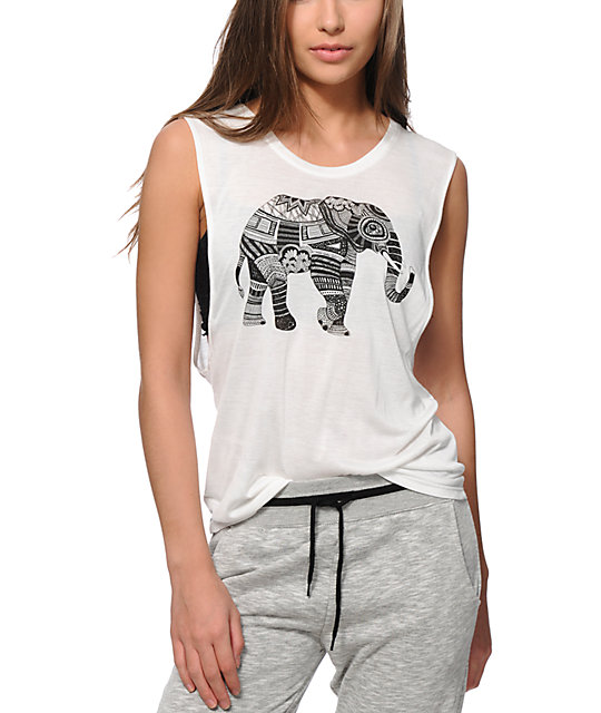 1fa2f1032 Empyre Elephant Ink Muscle Tank Top