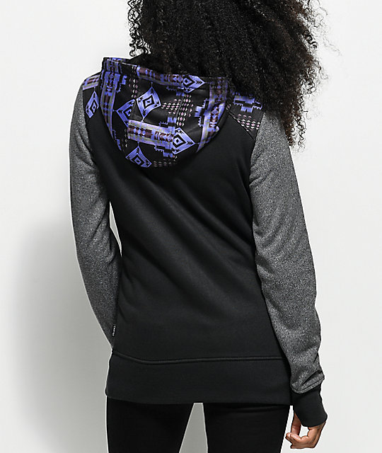 Empyre Elice Tech Fleece Black Tribal Zip Hoodie
