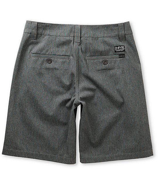 Empyre Elite Heather Grey Pinstripe Shorts