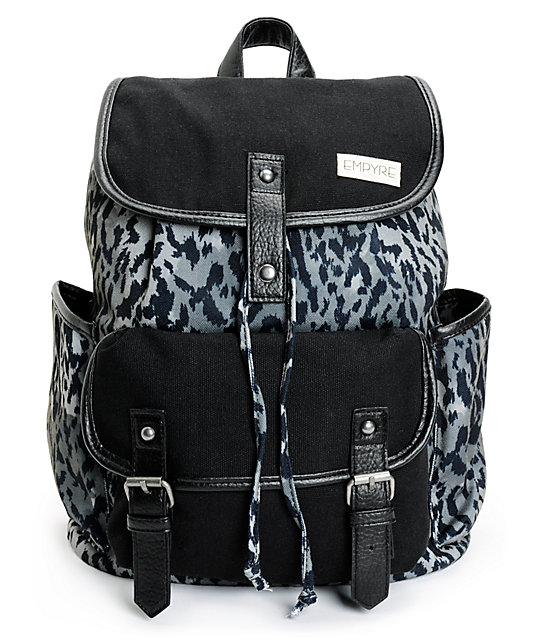 Empyre Emily Grey Leopard Rucksack Backpack