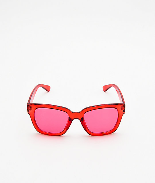Empyre Eros Transparent Red Sunglasses