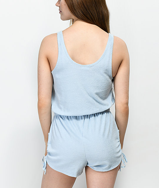 Empyre Esme Blue French Terry Romper