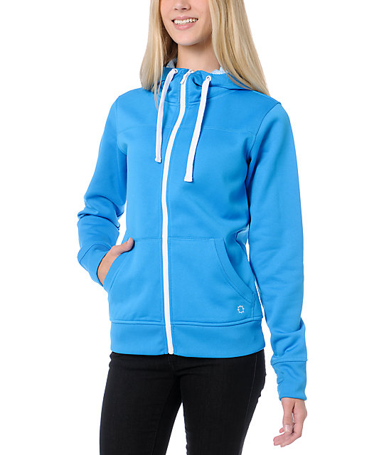 Empyre Essential Turquoise Full Zip Tech Fleece Jacket
