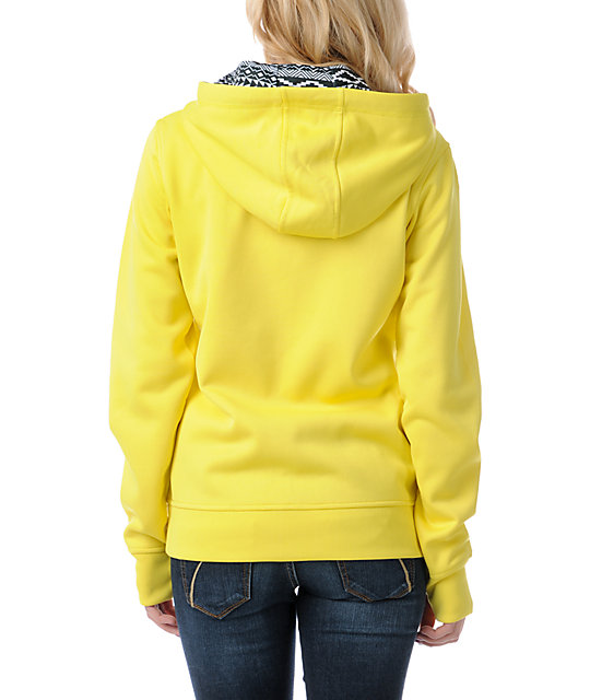 Empyre Essential Yellow Full Zip Tech Fleece Jacket