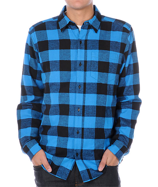 Empyre Excess Blue Flannel Shirt