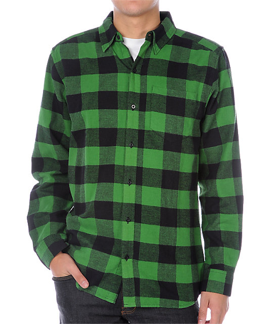 Empyre Excess Green Flannel Shirt