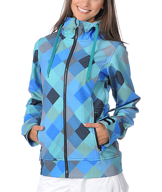 Empyre Exhibitionist Blue Plaid 10K Softshell Jacket