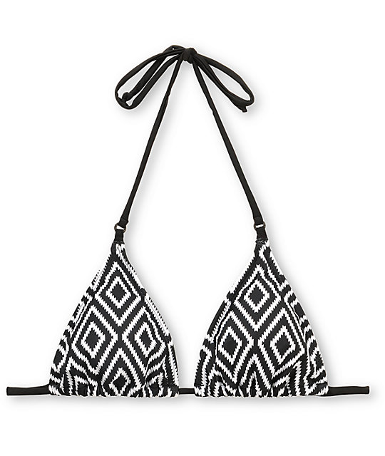 Empyre Fascia Tribal Black Triangle Bikini Top
