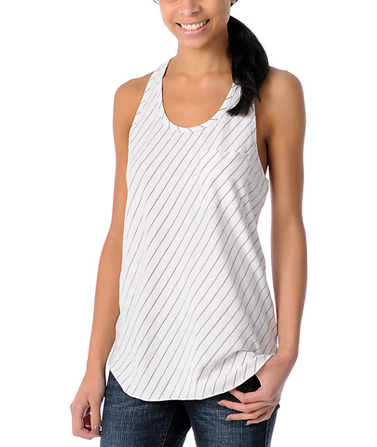 Empyre Fehn Cream Striped Tank Top