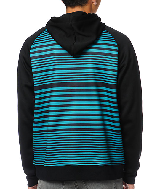 Empyre Felony Turquoise Striped Tech Fleece Jacket