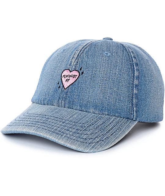 7beb20ce82365 Empyre Feminist AF Denim Strapback Hat