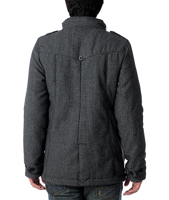 Empyre Field Officer Mens Charcoal Military Jacket