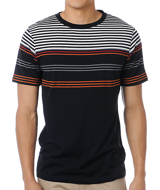 Empyre Flat Top Black Stripe T-Shirt