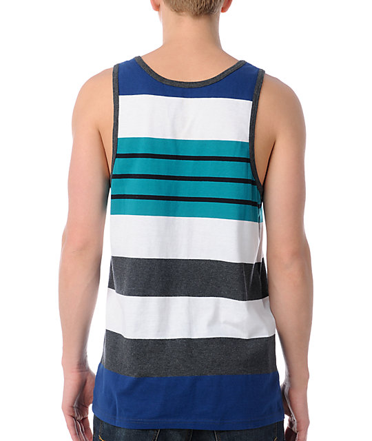 Empyre Flyin Blue Stripe Tank Top