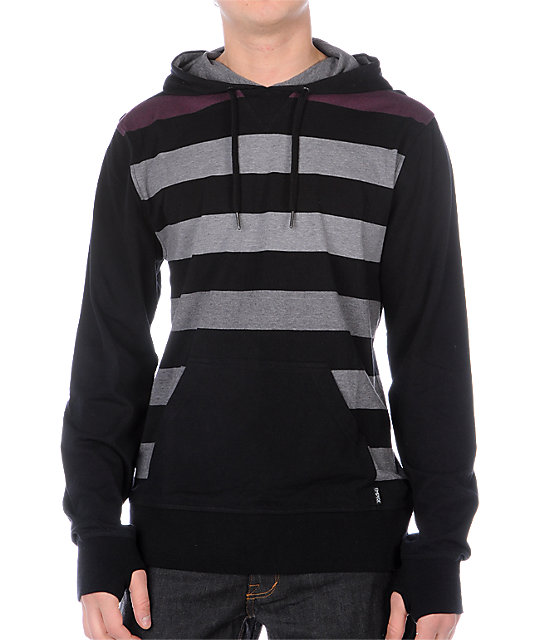 Empyre Folkster Black & Purple Long Sleeve Knit