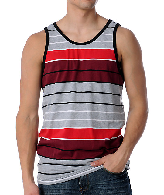 Empyre Force Stripe Red Tank Top