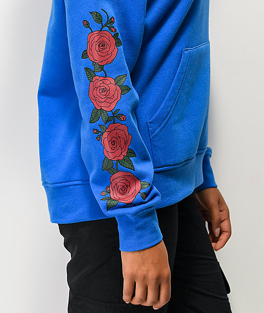 Empyre Fredia Red Rose Blue Hoodie