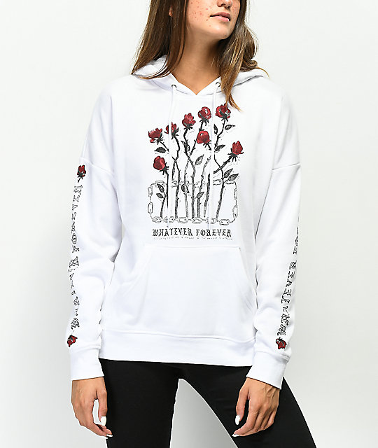 Empyre Fredia Whatever Rose White Hoodie