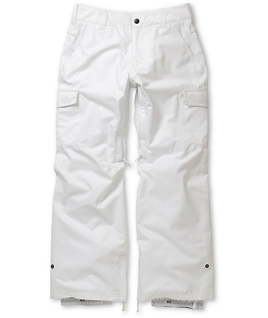 Empyre Free Roller White 10K Snowboard Pants