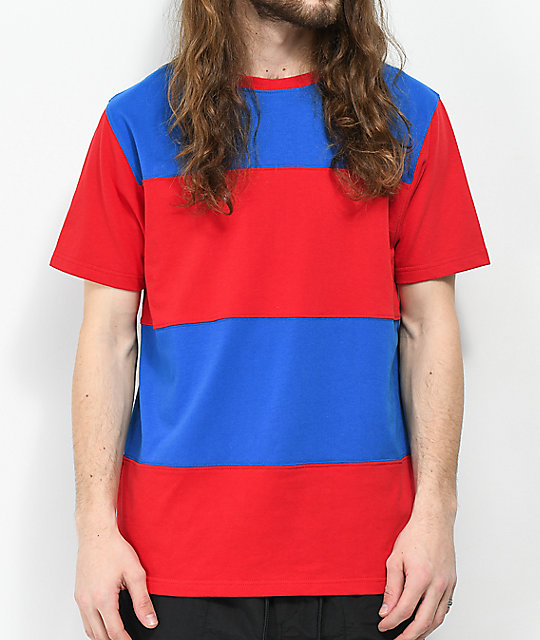 empyre freeway red blue colorblock t shirt