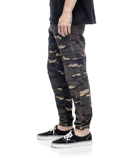 Empyre Freight Cargo Camo Twill Jogger Pants