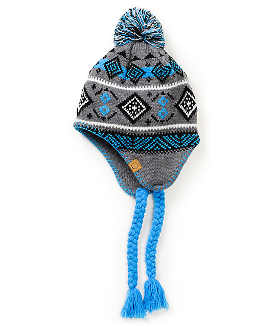 Empyre Giants Grey & Blue Earflap Beanie