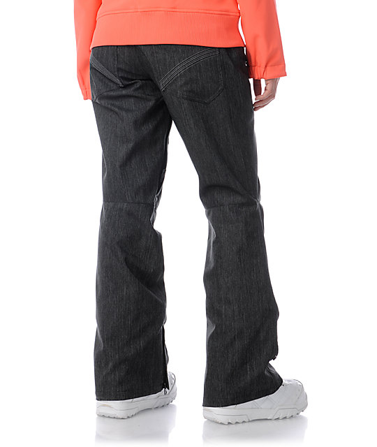 Empyre Glacier 10K Black Denim Snowboard Pants